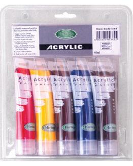 Acrylic Tube Paint Set 5 x 60ml-Artist's