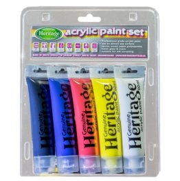 Acrylic Tube Paint Set 5 x 60ml-Primary