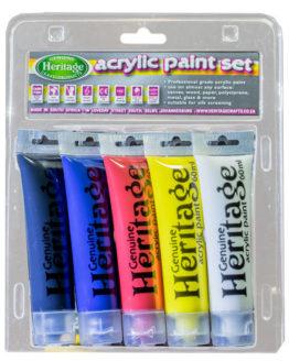 Acrylic Tube Paint Set 5 x 60ml-Primary