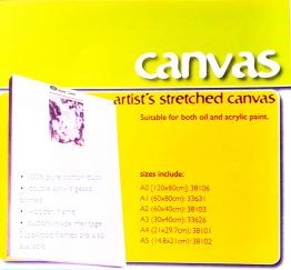 STRETCHED CANVAS A5  380gr 1.8mm